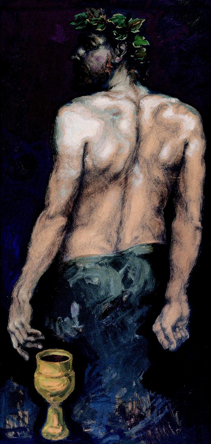 Dionisos de espaldas